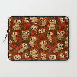 Northern Saw-whet owls pattern. Laptop Sleeve