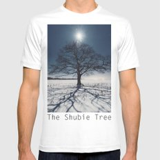 Winter Shadows White Mens Fitted Tee MEDIUM