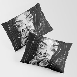 want some(sexy anime girl eating candy) Pillow Sham