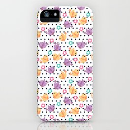 Freely Birds Flying - Fly Away Version 2 - Denim Dots Color iPhone Case