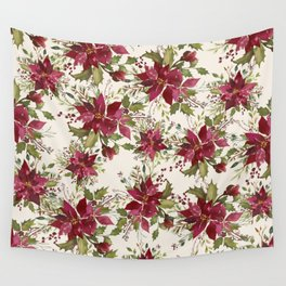 Poinsettia Pattern Wall Tapestry