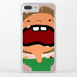 All Stressed Out Clear iPhone Case