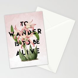 To Wander Stationery Cards