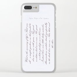 Life quotation Virginia Woolf Art Print Clear iPhone Case