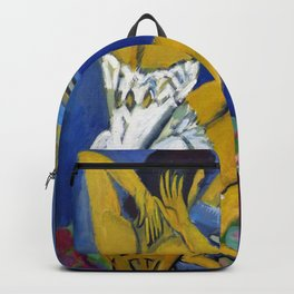Dressing table, woman in the mirror - Ernst Ludwig Kirchner Backpack