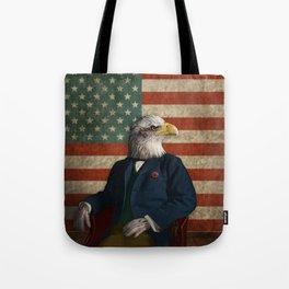 Official Portrait of Senator Silas Eagle Tote Bag