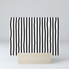 Black and white drawing stripes - striped pattern Mini Art Print