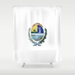 Flag of Salto, Uruguay Shower Curtain