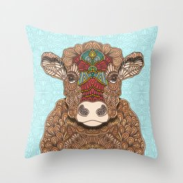 Frida the cow Throw Pillow