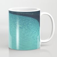 aqua Mugs featuring Aqua by Cassia Beck