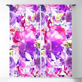 Modern lilac pink watercolor floral Blackout Curtain