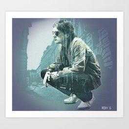 Falco on the Street Art Print