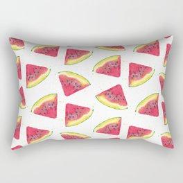 Mouth Watering Watermelon Rectangular Pillow