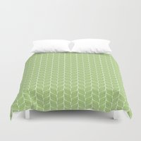 leaf Duvet Covers featuring Leaf by Aelwen
