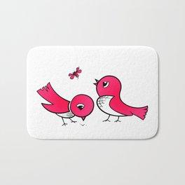 Cute little birds Bath Mat