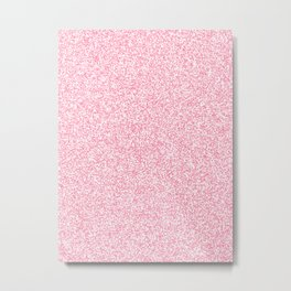 Spacey Melange - White and Flamingo Pink Metal Print