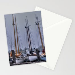 Schooners in the Cove Stationery Cards
