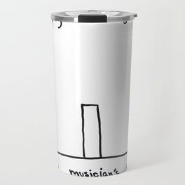 How many before giving up (white) Travel Mug