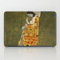 gustav klimt iPad Cases featuring Hope II by Gustav Klimt  by Palazzo Art Gallery