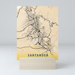 Santander Yellow City Map Mini Art Print