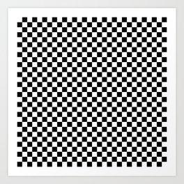 Black and White Check Art Print