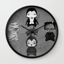 A Boy - Universal Monsters Black & White édition Wall Clock