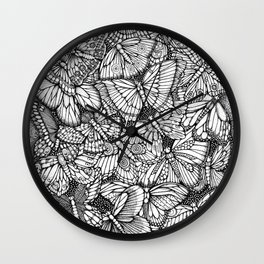 The Butterflies Waltzes by Kent Chua Wall Clock