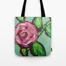 Pink Peony Floral Tote Bag