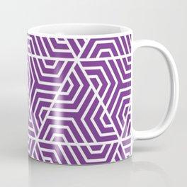 Eminence - violet - Geometric Seamless Triangles Pattern Coffee Mug
