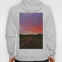 Northern sunset at white night Hoody
