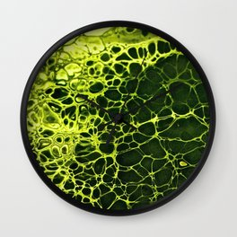 Cells - Slime Green Wall Clock