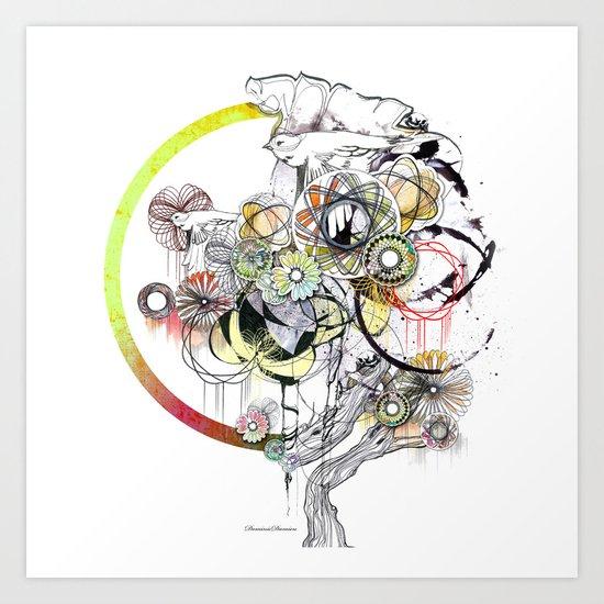 bouquet 3 Art Print
