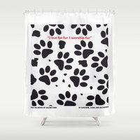minions Shower Curtains featuring No229 My 101 Dalmatians minimal movie poster by Chungkong