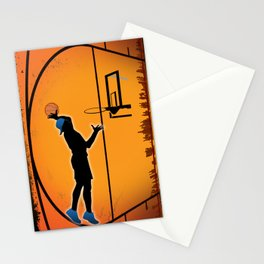 Basketball Player Silhouette Stationery Cards