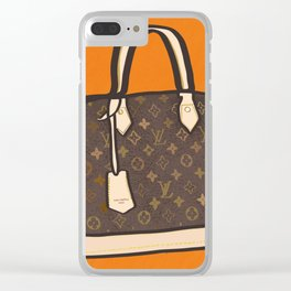 LV Alma Couture Bag Clear iPhone Case