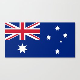 The National flag of Australia, authentic version (color & scale 1:2) Canvas Print