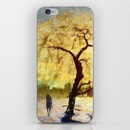 Walk Under the Willow iPhone Skin