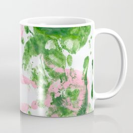 fingerpaint pink and green Coffee Mug