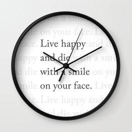 LIVE HAPPY Wall Clock