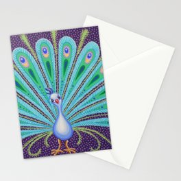 Proud Peacock by Soozie Wray Stationery Cards