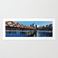 Peace Bridge Calgary Art Print
