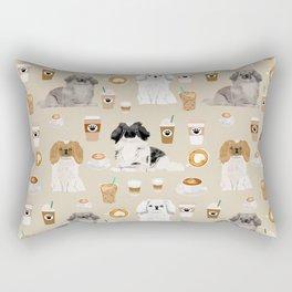Pekingese dog breed dog pattern pet portraits coffee food dog breeds pet friendly Rectangular Pillow