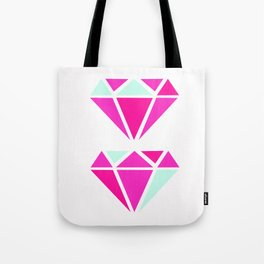Color Block Diamonds Tote Bag