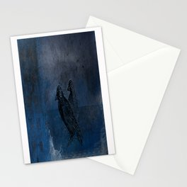 Two little crows blue sky dark night Stationery Cards