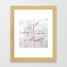 I Heart Math! Framed Art Print