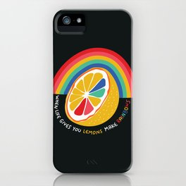 Rainbow Lemon  iPhone Case