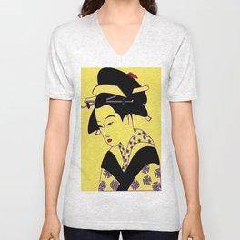 Geisha Portrait Unisex V-Neck