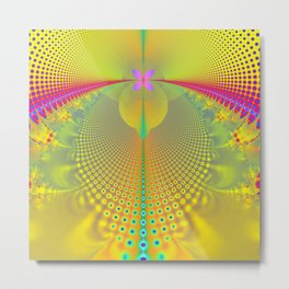 Butterfly in the Sunlight Fractal Abstract Metal Print