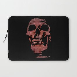 Red Optical Skull Laptop Sleeve