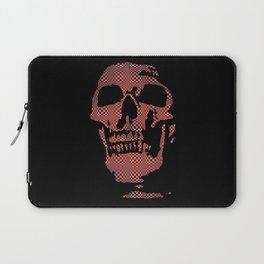 Red Optical Skull Laptop Sleeve